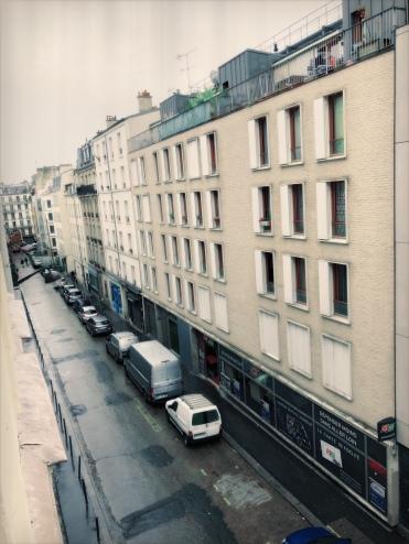 Uitzicht vanaf de 3e etage bij het FM Hotel