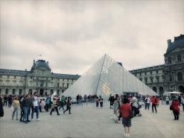outside Louvre